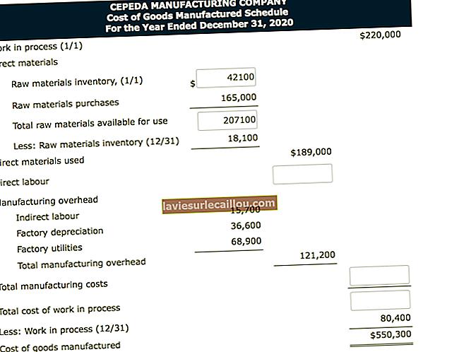 Programul costului bunurilor fabricate