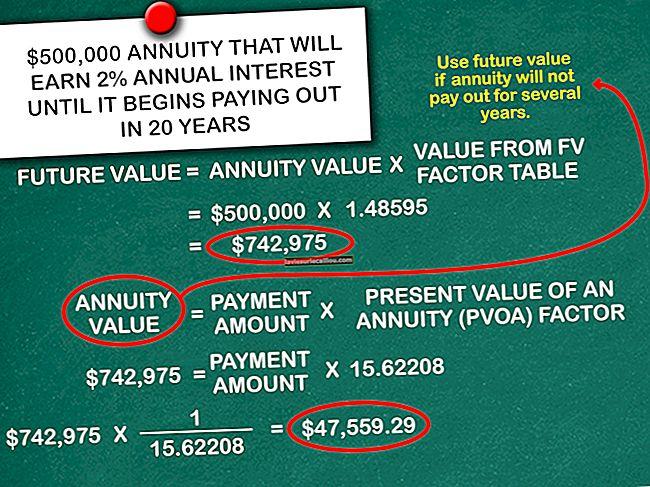 테이블 1 개의 현재 가치